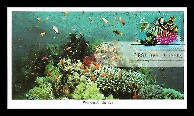 Dr Jim Stamps Us Wonders Of The Sea Coral Fish Diver First Day Cover Mystic