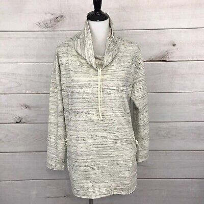 Talbots Womens Top Size 1X Beige Gray 3/4 Sleeves Cowl Neck Pullover Tunic