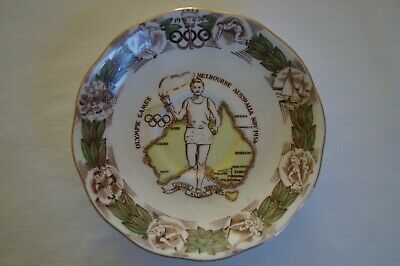 Olympic Games Collectable 1956 Melbourne Roslyn Fine Bone China Souvenir Plate