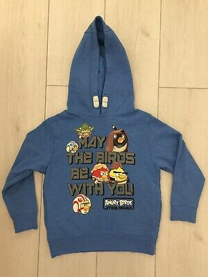 Boys Next Blue Angry Birds Hooded Jumper Size 7 Yrs Height 122cm