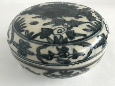 Chinese Ming Wanli 萬暦 Period 17th Century  Floral Motif Large Cover Box
