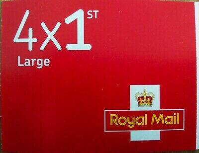 4 Royal Mail First Class Large Letter Size 1st Class StampsX 4
