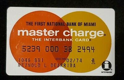 First National Bank of Miami MasterCharge exp 1974♡Free Shipping♡ cc729
