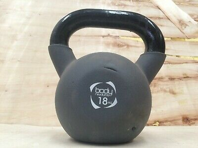 18KG Neoprene Kettlebell Cast Iron Weight Home Gym Strength Training Kettlebells