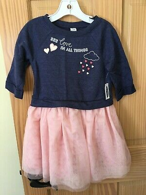 NWT Old Navy Girls Size 12-18 Months 2t 3t or 5t Blue Flower Tulle Tutu Dress