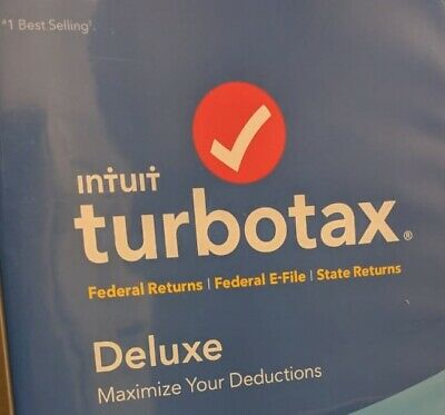 TurboTax Deluxe 2019 - Federal + State - PC/Mac Disc - NEW & SEALED!