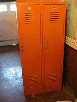 2 x 2=4 Lockers Penco Used Vintage HEAVY Metal Steel Lockers School Gym Athletic