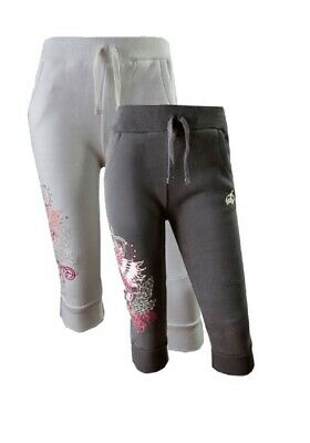 Girls Soul & Glory Cropped Elasticated Waist Jogpants Sweatpants Jogging Bottoms
