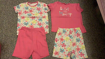 Twin Girls Matching 2-3 Summer Shorts Pjs Pyjamas 4 Pairs