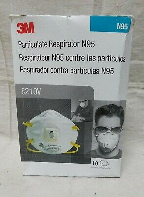 3M N95 8210v Disposable Respirator Molded Universal pack of 10