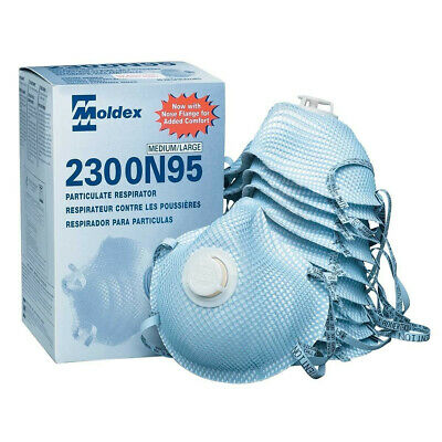 "Moldex 2300 N95 ""Box Of 10"" Surgical Face Mask Disposable Respirators"