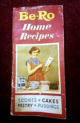 Vintage Be-Ro Home Recipe Book 24th Edition Baking Scones Cake Buns Pastry