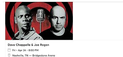 2 Tickets To The Dave Chappelle And Joe Rogan Show In Nashville Tennessee