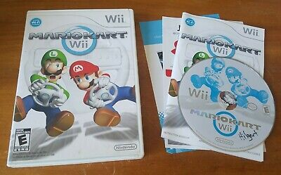 Mario Kart Wii (Nintendo Wii, 2007) u racing multiplayer video game COMPLETE