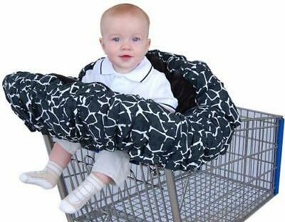Floppy Seat Infant Toddler Shopping Cart High Chair Cover Giraffe Print