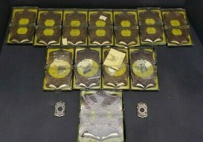 14 Vintage Amerock Antique Brass CARRIAGE HOUSE Wall And Door Plate Covers.