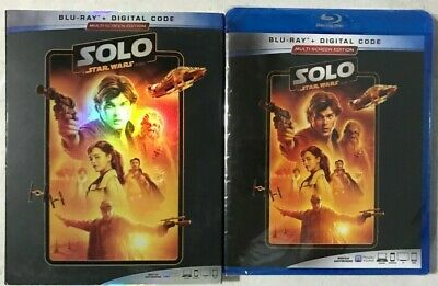 Star Wars Solo: A Star Wars Story (Blu-Ray + Digital + Slipcover) New Sealed 📀