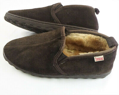 Tamarac Men/'s Justin Cowhide Upper Whipstitch Memory Foam Moccasin Slippers 13M