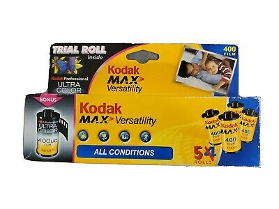 Kodak Max Versatility 400 Color Film 35mm 5 Roll Pack 24 Exposure Sealed Expired