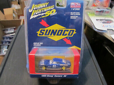 JOHNNY LIGHTNING JLCP7239 1968 CHEVROLET CAMARO SS SUNOCO RACING #6 1//64 BLUE