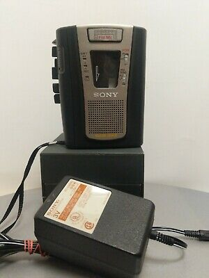 Sony Cassette Corder TCM-459V Recorder with AC Adapter - TESTED WORKS