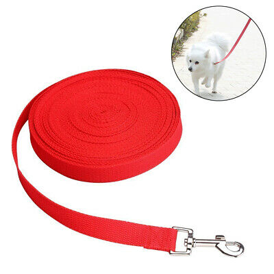 10M Extra Long Dog Training Lead Strong Leash Large Recall Line Walking Red