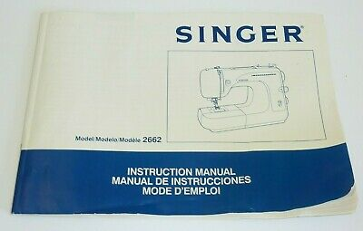 SINGER 2662 SEWING MACHINE INSTRUCTION MANUAL Only