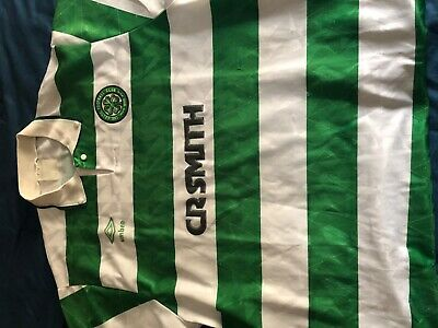 Glasgow Celtic 1993-1995 Home Shirt Umbro Cr Smith Ireland Scotland - Size L