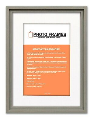 Oslo Chic Picture Frames With White Mount Various Colours and Sizes Art Poster