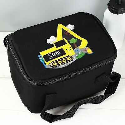PERSONALISED Kids School Pack Lunch Bag - Boys Digger Packed Lunch Dinner Box