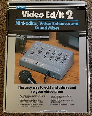 Sima Video Ed/it 2 Mini Editor Video Enhancer and Sound Mixer In OG Box 90s gear
