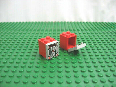 Vintage LEGO Red Hinge Plate 2 x 8 Complete Assembly 6956 #3324c01