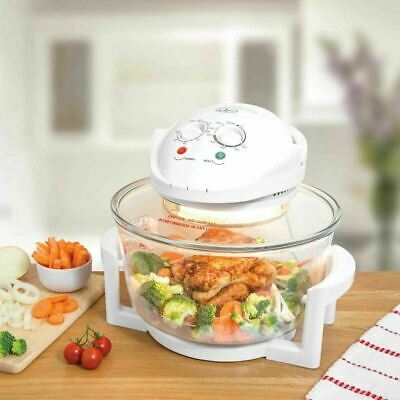 12 Litre White Premium Portable Halogen Convection Oven Cooker 1300w New