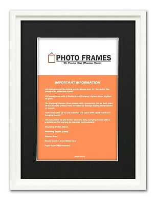 Oslo Chic Picture Frames With Black Mount Various Colours and Sizes Art Poster