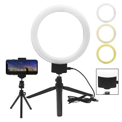 """9"""" LED Ring Light Kit With Stand Dimmable Makeup Phone Camera Selfie Lighting"""