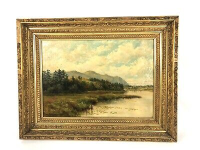 Antique Connecticut Landscape Oil Painting Ernest S. Pease 1887 Fine Art