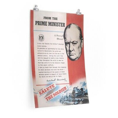 Winston Churchill, Reprint of British WW2 poster.