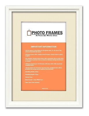 Oslo Chic Picture Frames With Ivory Mount Various Colours and Sizes Art Poster