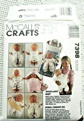 MAKE VINTAGE STYLE DOLL CLOTHES~FIT BITTY BABY~BETSY WETSY~KISSY SEWING PATTERN