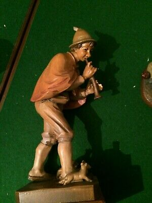 anri pied piper  wood carvings treen 1940's/50's