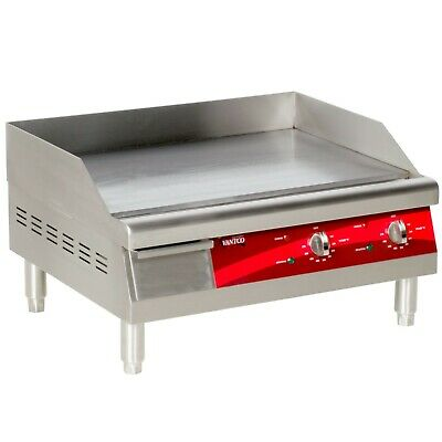 """24"""" Avantco Electric Stainless Steel Commercial Countertop Flat Top Griddle 240V"""