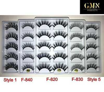 New 5 Pair 3D Mink False Eyelashes Fake Wispy Long Thick Cross Eye Lashes Soft