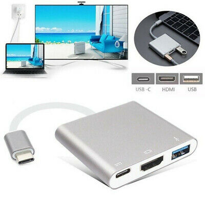 Durable TypeC to 4K HDMI USB 3.0 Charging HUB Adapter USB-C3.1 Cable Converter d