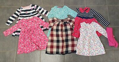 Girls Dress And Tights Bundle Age 2-3 Years Bluezoo Next Mothercare Little Me