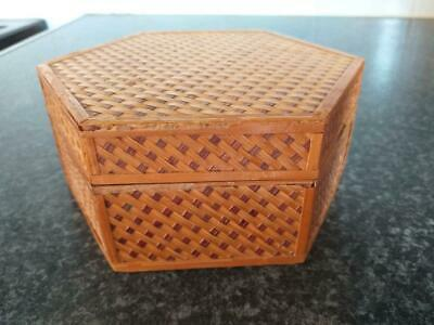 vintage wooden bamboo box Chinese made in people's republic China