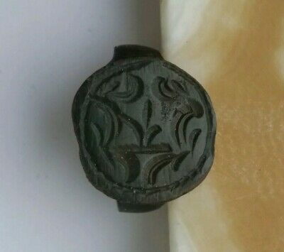 Ancient Viking old  ring with an ornament  rarity 12-13 century.