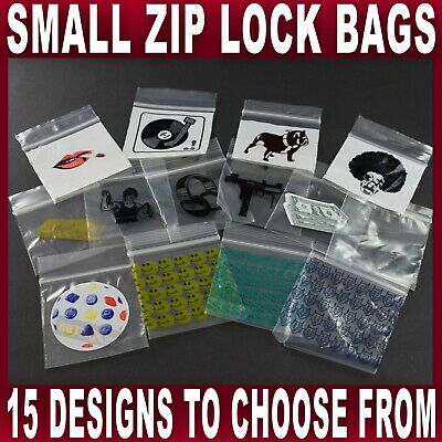 SMALL SEALY GRIP ZIP LOCK BAG SEAL STASH BAGS BAGGIES 5x5cm