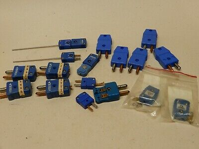 Omega Type T Thermocouple Connectors and Probes Used and New Huge Lot