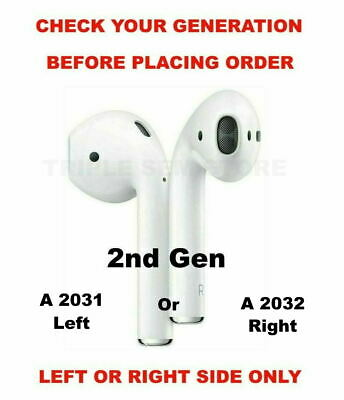 FOR PARTS Genuine Apple AirPods 2nd Generation Air Pods Left Right or Both