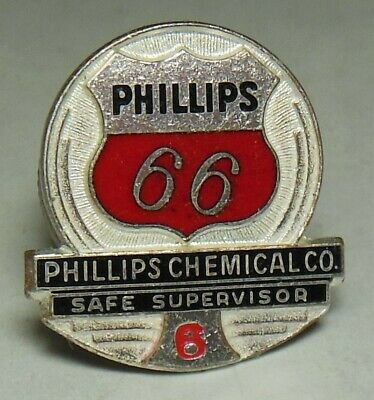 CONOCO Gas//Oil Co Sterling Silver employee service safety award tie//lapel pin